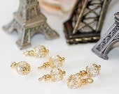Free Ship Petite Faceted Crystal