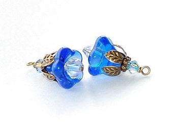 Royal Blue Blossom Charms