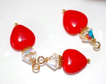 FREE SHIP  Red Hearts