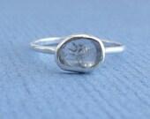 Diamond Slice Ring in Silver