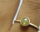 Medium Rose Cut Diamond Ring