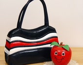 Sale Vintage 60s AMERICAN as APPLE PIE Red White & Blue Bag