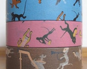 NEW-  yonagadou - japanese washi masking tape - patterns of japan  - sweet and nostalgic - marching band