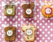 washi stickers - japanese wagashi sweets - sets  (5 sheets / 40pcs) or single sheet ( one colour - 1 sheet - 8 pcs).