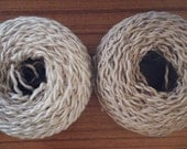 organic cotton linen mixed yarn - 40g ball - off white and beige