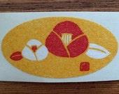 japanese washi flower sticker - set of 12pcs