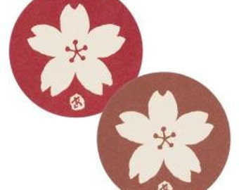 sakura stickers - set of 12