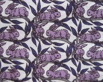 liberty tana lawn cotton - limited print - cotton tail - purple - last piece off the bolt.