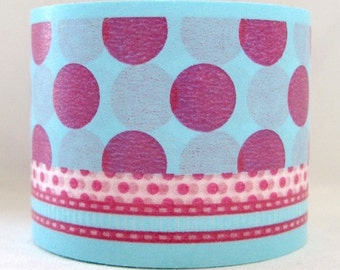 BOLD -  japanese washi masking tape -bold - dot/ribbon - A