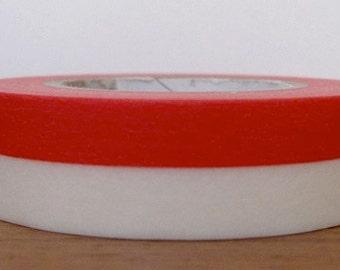 japanese designer washi masking tape - red and white - nakagawa yu