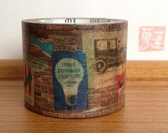 2012 limited edition mt washi masking tape - brick wall art