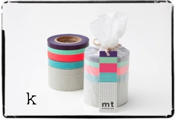 mt japanese washi masking tape mt set - K -