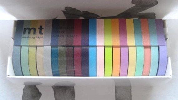 japanese mt masking tape - 20 piece set (7mm x 15metres)