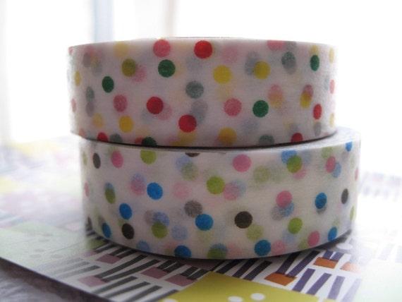 japanese masking tape - mt deco 2 piece set colourful dots