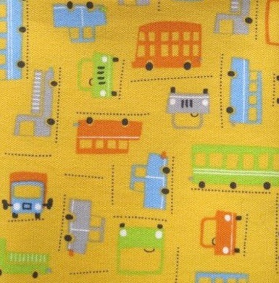 japanese fabric - cars, buses and trucks