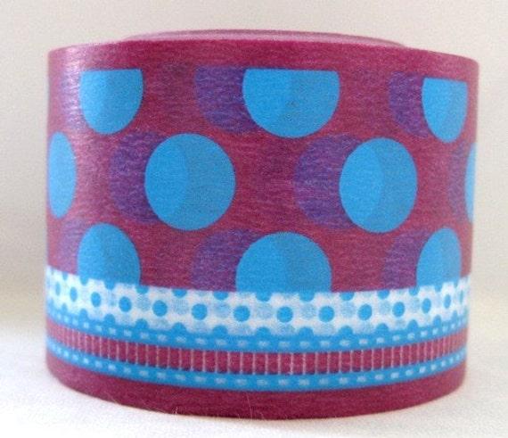 BOLD - japanese washi masking tape -bold - dot/ribbon - F