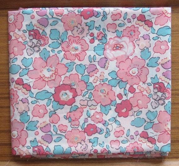 liberty of london - betsy limited print - pink and aqua - fat quarter
