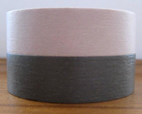 mt washi masking tape - set of 2 - charcoal grey and sakura ash