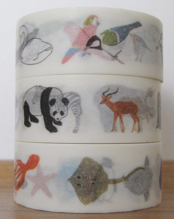 colte - washi masking tape - animals - set of 3