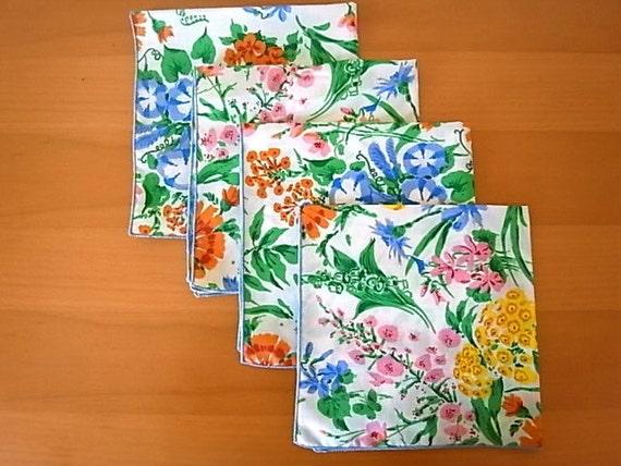 Vintage Leacock Floral Napkins