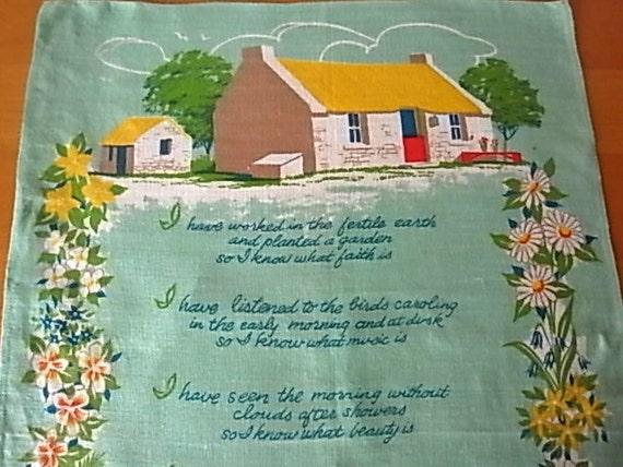 Vintage Fingal Irish Linen Tea/Dish Towel Fulfillment