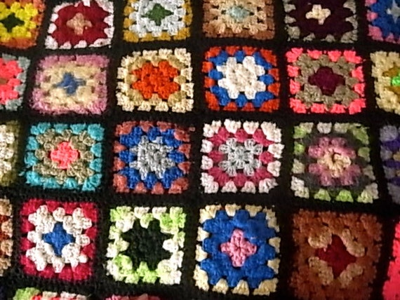 RESERVED-SALE- Vintage Crochet Afghan Throw