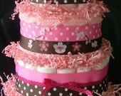 Pink Afghan Diaper Cake