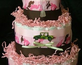Army Girl Diaper Cake