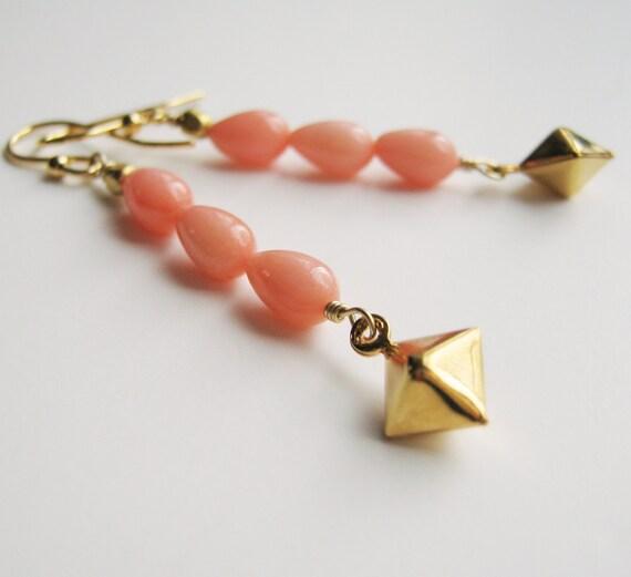 Pink Coral Dangles.