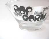 Popcorn...popcorn...get your popcorn vintage glass bowls set of two