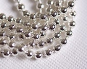 Silver 24inch Metal Ball Chain -  You Choose Size Regular or Skinny - 2.4mm OR 1.5mm - High Quality