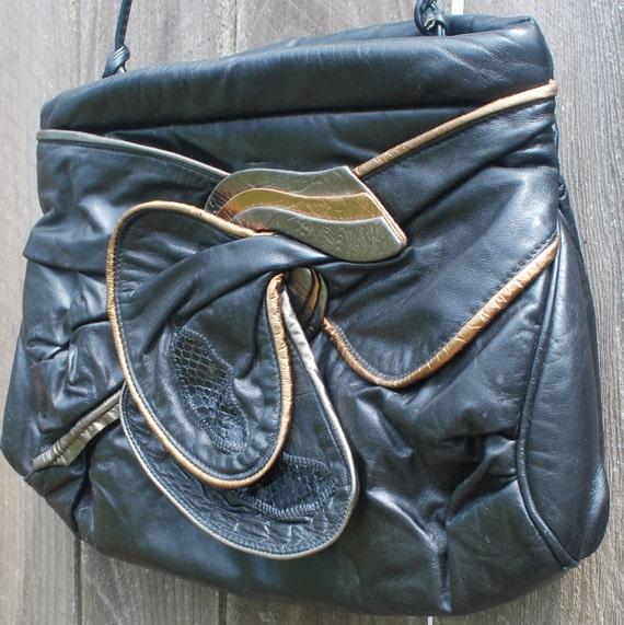 Vintage Awesome 80's Leather Purse