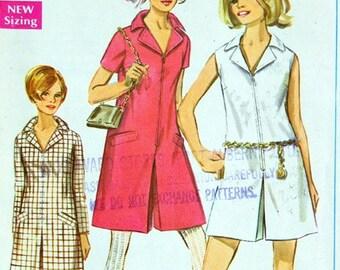 Vintage Sewing Pattern Miss Pant Dress, dress for biking, office look, pants dress pattern,  Simplicity 7581, Size 12, Bust 34