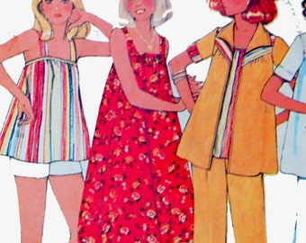 Vintage summer dress pattern, Maternity dress or tops, jacket and pants or shorts, Size 10, Bust 32.5, McCalls 5545, SALE