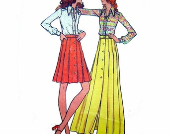 Pleated Skirt and Shirt Pattern, Bust 36, Hip 38, Size 14, Butterick 6665, UNCUT