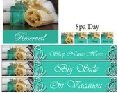 Pre-Made Banner Set - Banner, Avatar, Reserved, Vacation Personalized Package