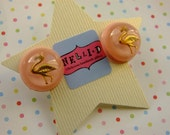 SALE:flamingo earrings