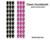 Classic Houndstooth - Peyote Bracelet Pattern - INSTANT DOWNLOAD