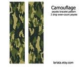Camouflage Pattern - 2Drop Peyote Bracelet Pattern - INSTANT DOWNLOAD