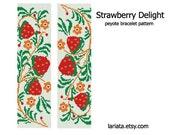 Strawberry Delight - Peyote Bracelet Pattern - INSTANT DOWNLOAD