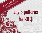 SPECIAL OFFER pick any 5 beading peyote patterns for 20 Dollars