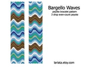 Bargello Waves - 3Drop Peyote Bracelet Pattern - INSTANT DOWNLOAD