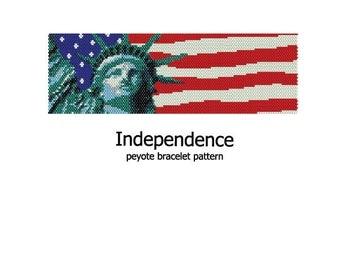 Independence - Peyote Bracelet Pattern - INSTANT DOWNLOAD