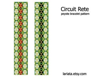Circuit Rete - Peyote Bracelet Pattern - INSTANT DOWNLOAD