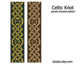 Celtic knot - Peyote Bracelet Pattern - INSTANT DOWNLOAD