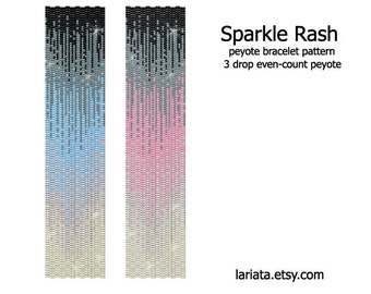 Sparkle Rash - 3Drop Peyote Bracelet Pattern - INSTANT DOWNLOAD