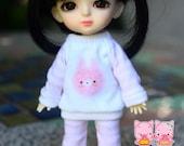 B123 - Lati yellow / pukifee Outfits (Pink rabbit)