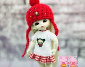 C011 - dress and knitted hat  for Pukipuki / felix brownie doll