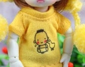 A171 - T-shirt for lati white Sp / pukipuki / felix brownie doll