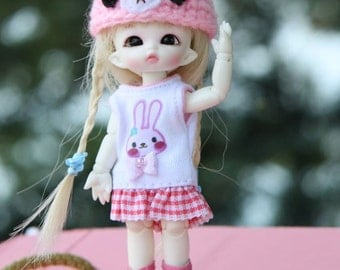 B085 - Pukipuki Outfits (Rabbit hat  and dress)